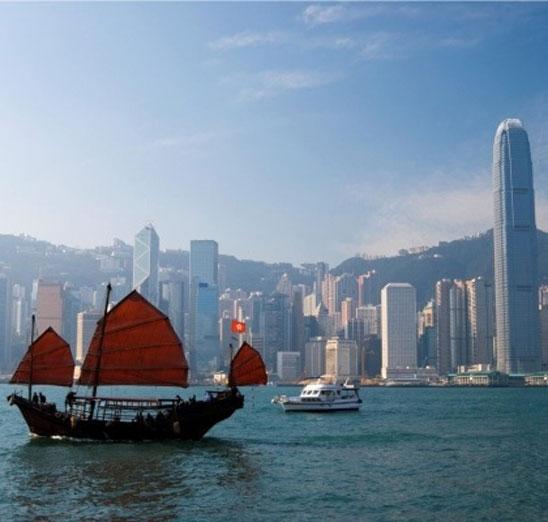 Hong Kong Harbour med udsigt til hongkong island