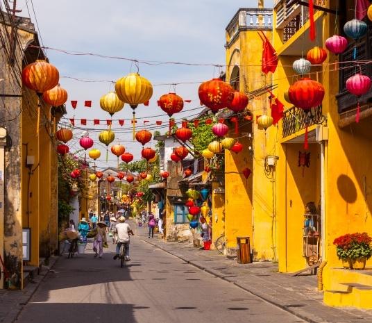 Gadebilledet i Hoi An, Vietnam