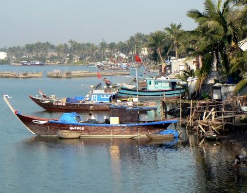 Havnen i Hoi An - Vietnam